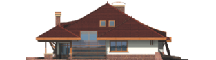 Projekt domu Henryk G1 - elewacja lewa