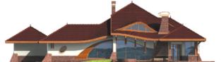 Projekt domu Henryk G1 - elewacja tylna