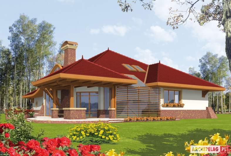 Projekt domu Henryk G1 - wizualizacja ogrodowa