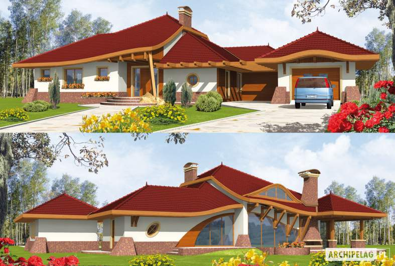 Projekt domu Henryk G1 - wizualizacja frontowa