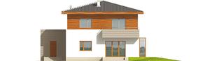 Projekt domu Dao G1 - elewacja tylna