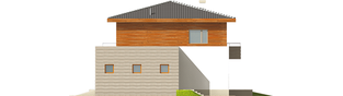 Projekt domu Dao G1 - elewacja prawa