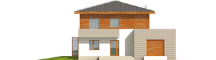 Projekt domu Dao G1 - elewacja frontowa