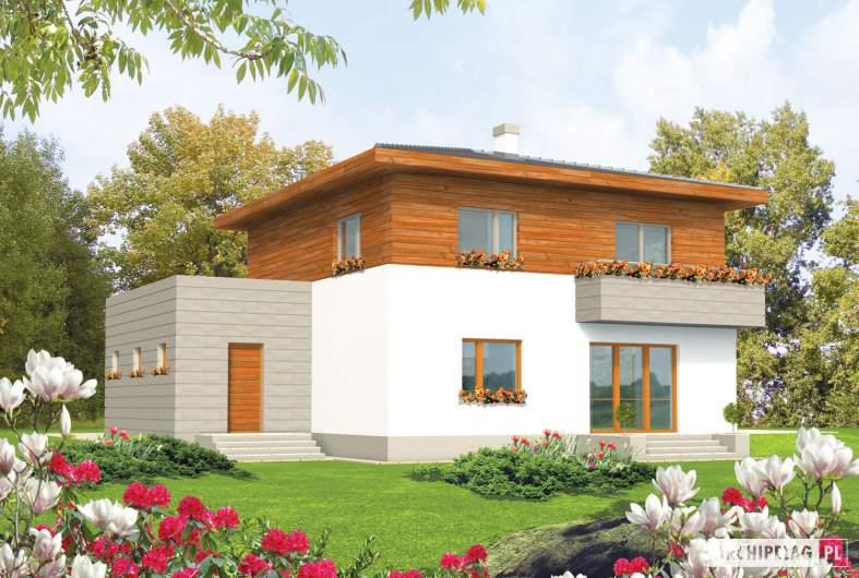 Projekt domu Dao G1 - wizualizacja ogrodowa