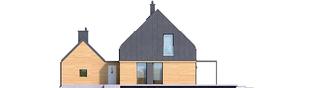 Projekt domu EX 16 G1 - elewacja tylna