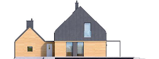 EX 16 G1 - Projekt domu EX 16 G1 - elewacja tylna
