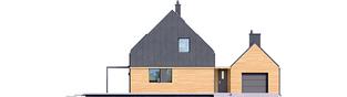 Projekt domu EX 16 G1 - elewacja frontowa