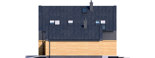 EX 16 G1 - Projekt domu EX 16 G1 - elewacja prawa