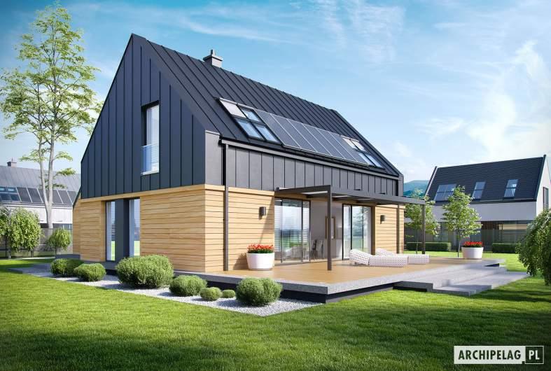 Projekt domu EX 16 G1 - wizualizacja ogrodowa