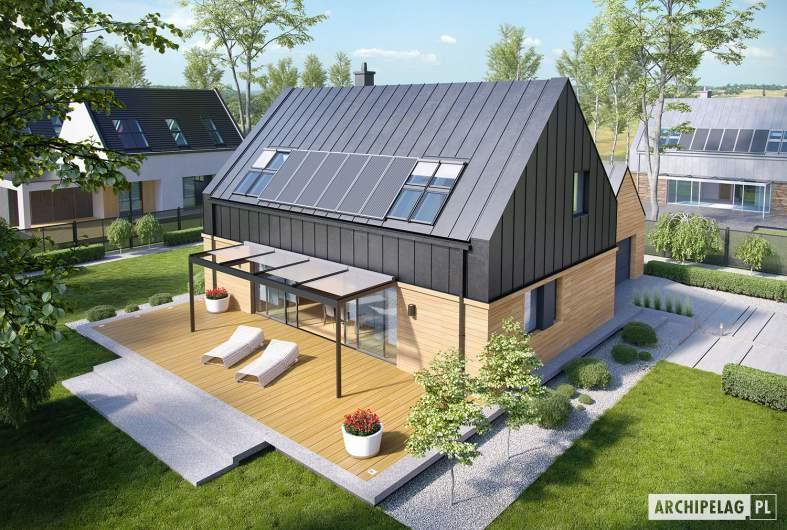 Projekt domu EX 16 G1 - widok z góry