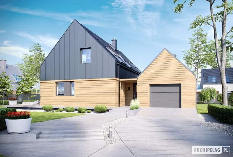 Projekt domu EX 16 G1 - wizualizacja frontowa