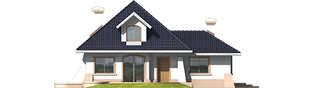 Projekt domu Milena II G1 - elewacja tylna