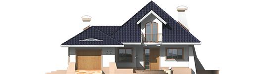 Milena II G1 - Projekt domu Milena II G1 - elewacja frontowa