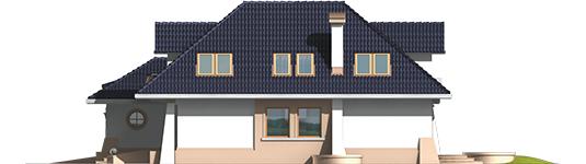 Milena II G1 - Projekt domu Milena II G1 - elewacja prawa