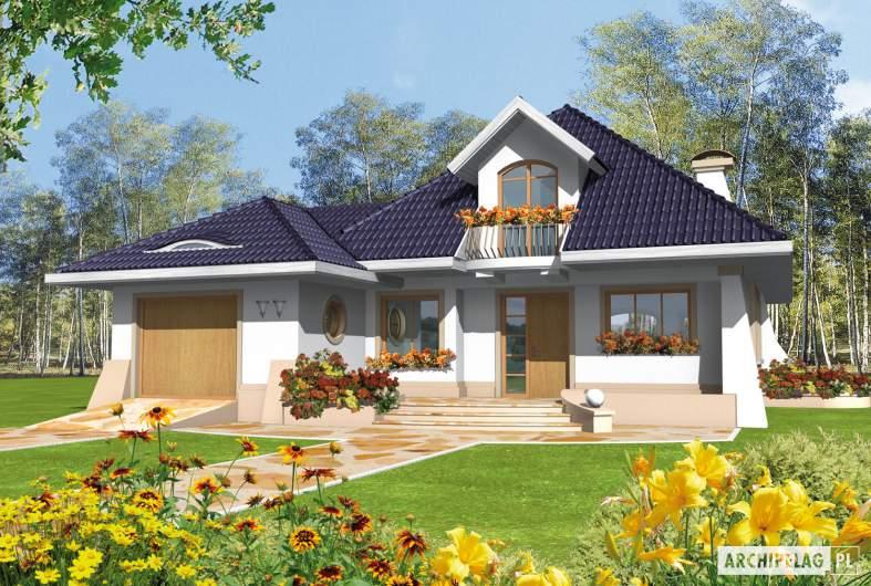 Projekt domu Milena II G1 - wizualizacja frontowa