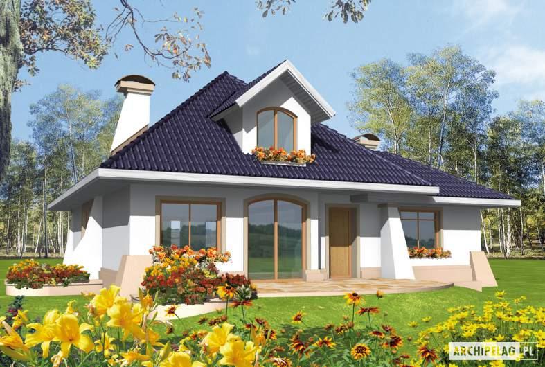 Projekt domu Milena II G1 - wizualizacja ogrodowa