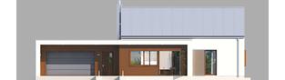 Projekt domu EX 8 G2 (wersja A) soft - elewacja frontowa