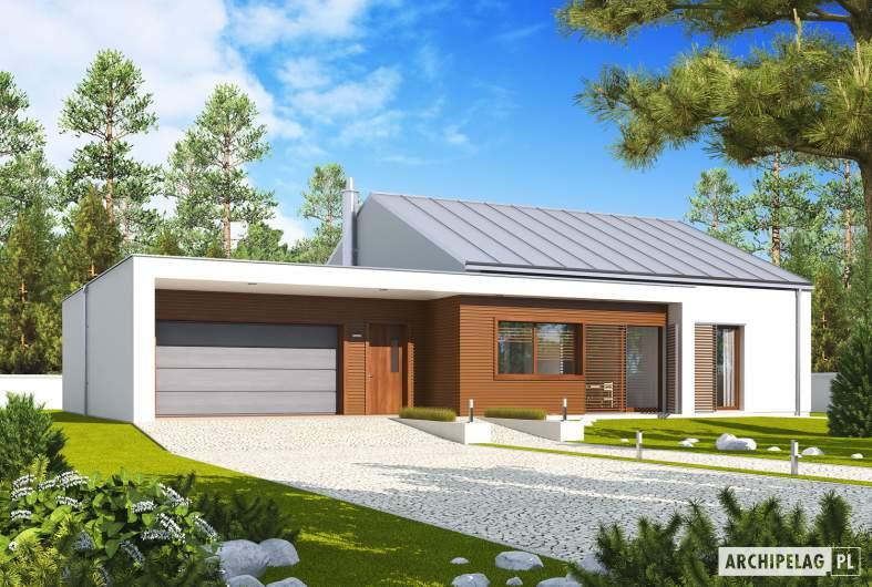 Projekt domu EX 8 G2 (wersja A) - wizualizacja frontowa
