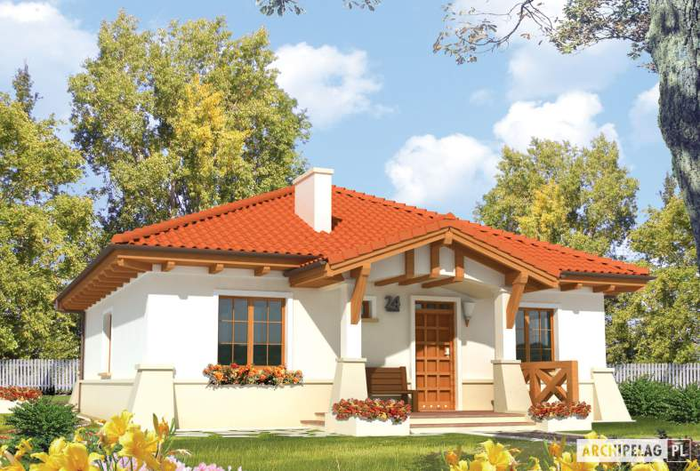 Projekt domu Edyta (e. III) - wizualizacja frontowa