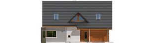Projekt domu Demi G1 (wersja B) - elewacja frontowa