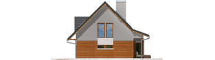 Projekt domu Demi G1 (wersja B) - elewacja tylna