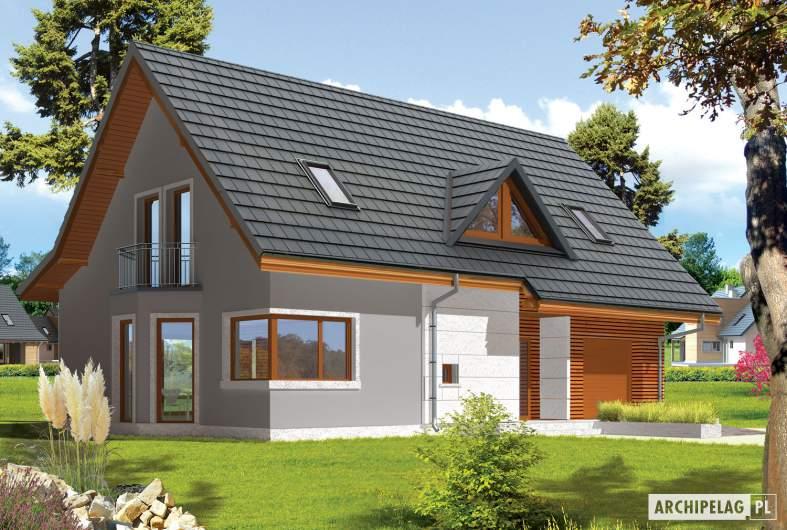 Projekt domu Demi G1 (wersja B) - wizualizacja frontowa