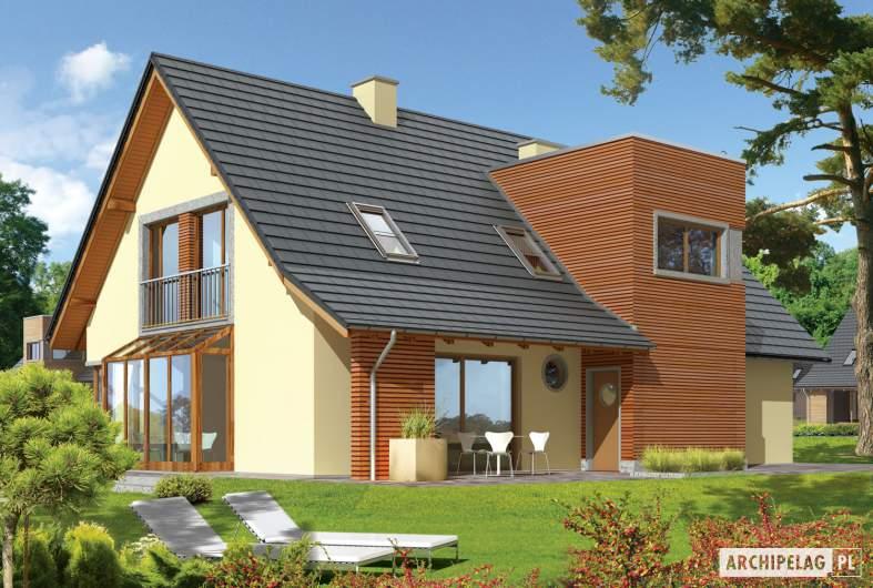 Projekt domu Hugo G2 - wizualizacja ogrodowa