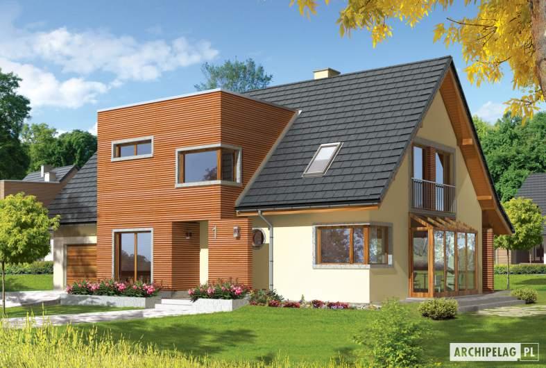 Projekt domu Hugo G2 - wizualizacja frontowa