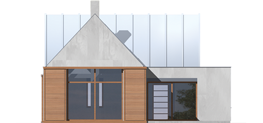 Nikita - Projekt domu Nikita - elewacja tylna