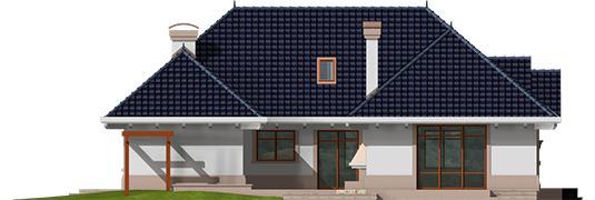 Lucia - Projekt domu Łucja - elewacja lewa