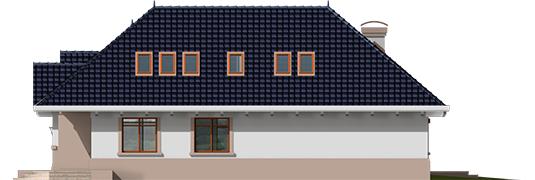 Lucia - Projekt domu Łucja - elewacja prawa