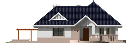 Lucia - Projekt domu Łucja - elewacja frontowa