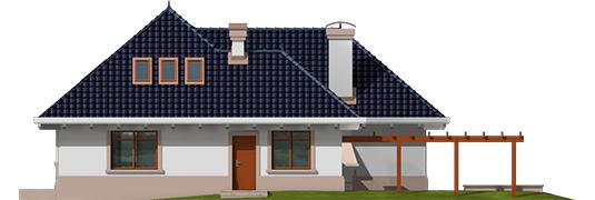 Lucia - Projekt domu Łucja - elewacja tylna