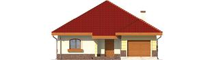 Projekt domu Cezaria G1 - elewacja frontowa