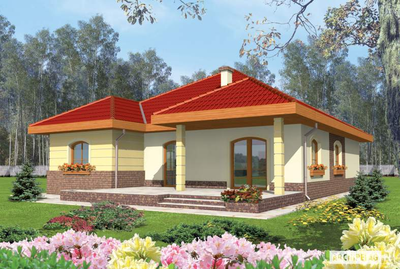 Projekt domu Cezaria G1 - wizualizacja frontowa