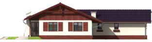 Projekt domu Romina G2 - elewacja tylna