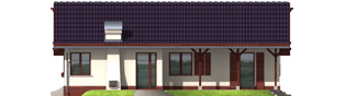 Projekt domu Romina G2 - elewacja prawa