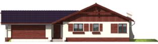 Projekt domu Romina G2 - elewacja frontowa