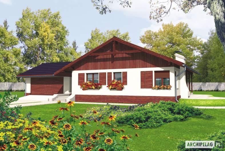 Projekt domu Romina G2 - wizualizacja frontowa