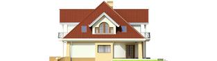 Projekt domu Emilka G1 - elewacja prawa