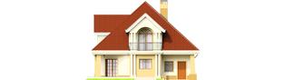 Projekt domu Emilka G1 - elewacja tylna