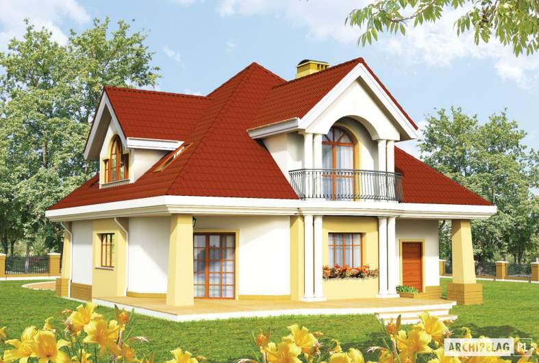 Projekt domu Emilka G1 - wizualizacja ogrodowa
