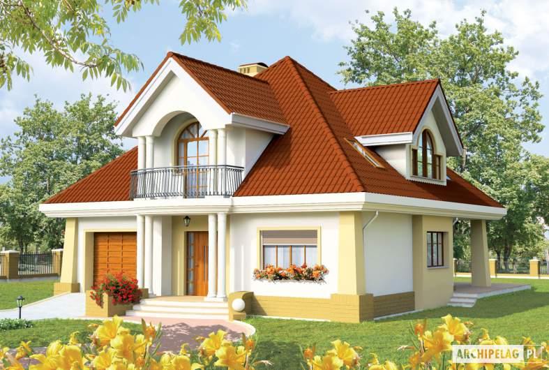 Projekt domu Emilka G1 - wizualizacja frontowa