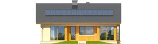 Projekt domu Karmela - elewacja tylna
