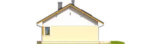 Projekt domu Karmela - elewacja prawa