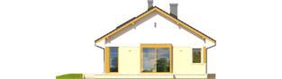 Projekt domu Karmela - elewacja lewa