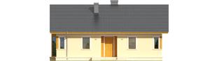 Projekt domu Karmela - elewacja frontowa