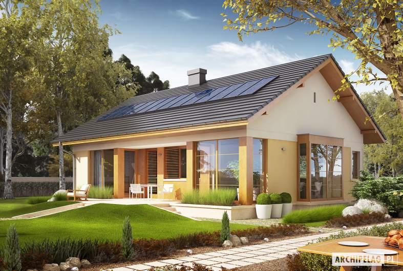 Projekt domu Karmela - wizualizacja ogrodowa