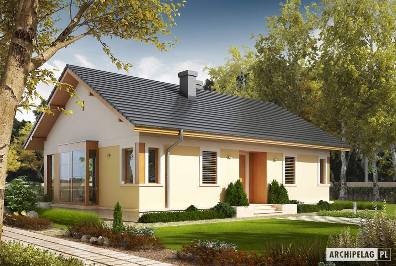 Projekt domu Karmela - wizualizacja frontowa