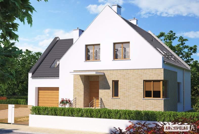 Projekt domu Tymoteusz G1 - wizualizacja frontowa